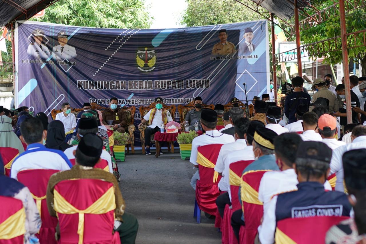 Kunker Bupati Luwu Resmikan Jalan Poros Padang Sappa Noling Tabloid Sar